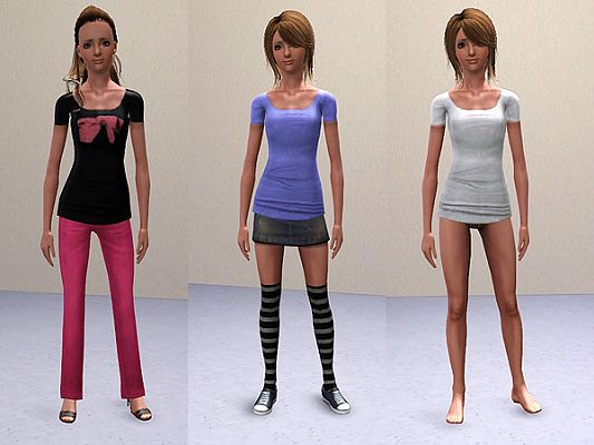 Sims 3 top, cloth, fashion, tee