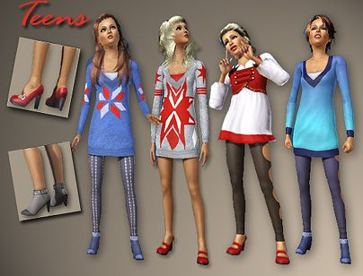 Sims 3 cloth, top, tunic, accessories, fashion, teen