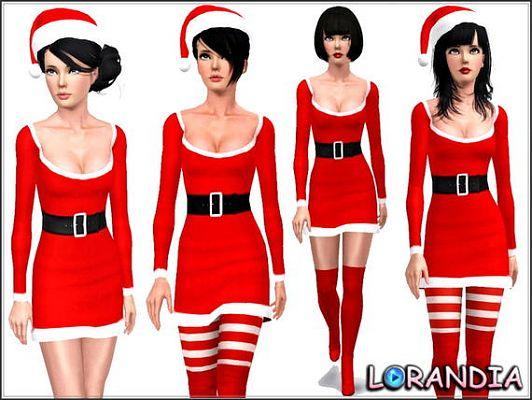 Miss Santa Claus Dress  Sims3updates_cas_5363_M