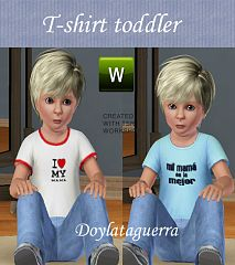 Sims 3 t-shirt, top, clothing, toddler