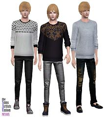 Sims 3 male, clothing, top, shirt