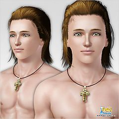 Sims 3 cross, necklace, male, jewelry
