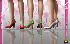 Sims 3 shoes, modern, classic, female, fashion