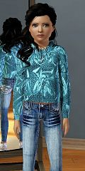 Sims 3 top, cloth, fashion, jacket