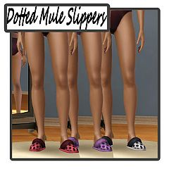 Sims 3 slippers, shoes, sleepwear, mule