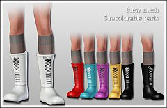 Sims 3 shoes, men, wellingtons