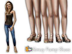 Sims 3 shoes, pumps, sandals, platforms