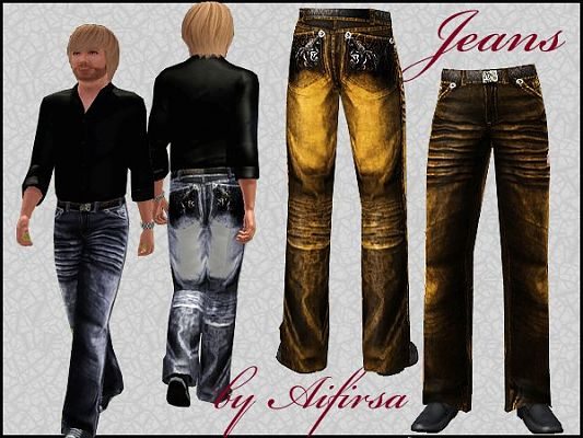 Sims 3 jeans, denim, clothing, male