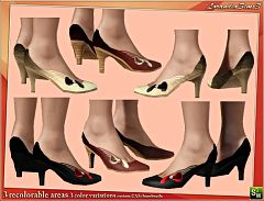 Sims 3 shoes, leather, tie, footwear