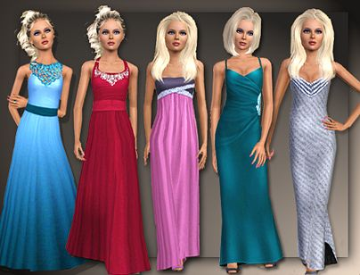 Sims 3 formal, gown, dress, fashion, female, teen