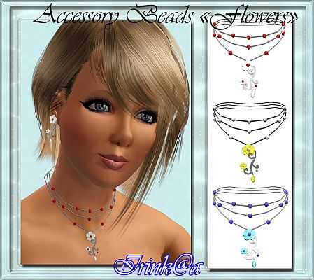 Sims 3 jewelry, necklace, flowers, accessories, female