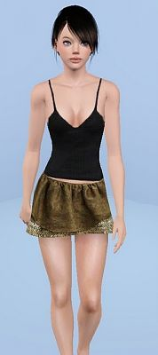 Sims 3 skirt, fashion, bottom, clothing, female