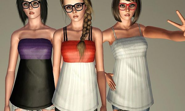 Sims 3 top, fashion, clothing, female
