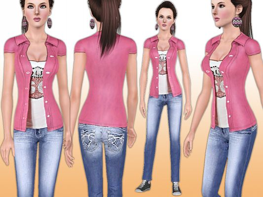 Sims 3 outfit, fashion, female