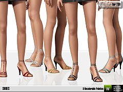 Sims 3 shoes, sandals, straps, female