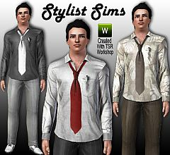 Sims 3 shirt, tie, men