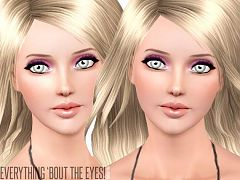 Sims 3 eyes, eyeliner, eyeshadow, set, makeup, cosmetics
