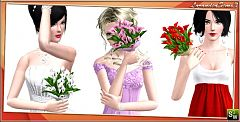 Sims 3 flower, bouquet, accessories