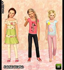 Sims 3 set, cloth, fashion, female, child
