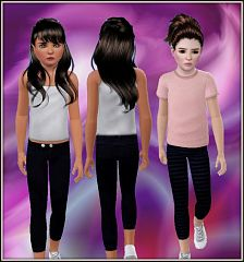 Sims 3 bottom, pants, capris, clothing, girls