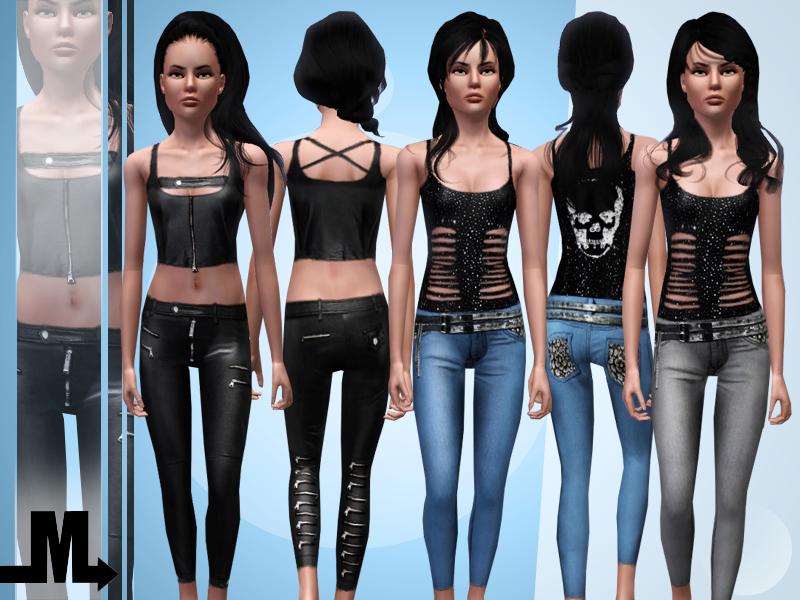 Модная одежда для подростков - Портал игры Симс 3. Скины и объекты.