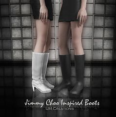 Sims 3 shoes, boots, designer, female