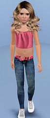 Sims 3 jeans, bottom, cloth, denim, fashion, girl