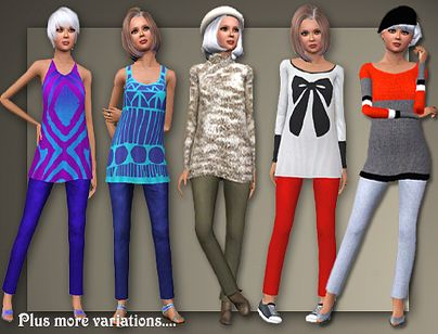 Sims 3 tunic, top, clothing, elder, outfit, fashion