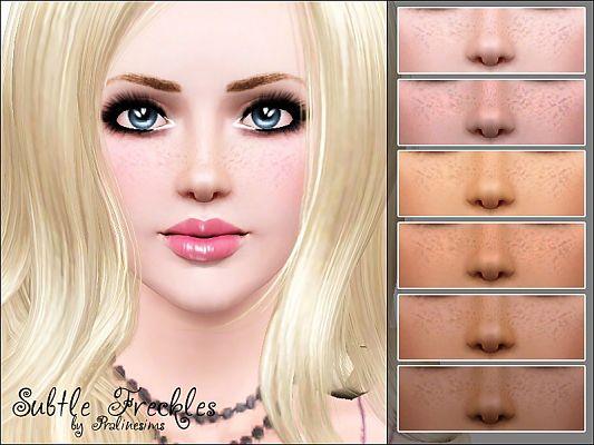 Pralinesims' Subtle Freckles
