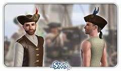 Sims 3 hat, accessories, male