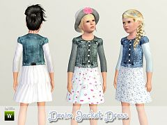 Sims 3 dress, fashion, clothing, jacket, girls