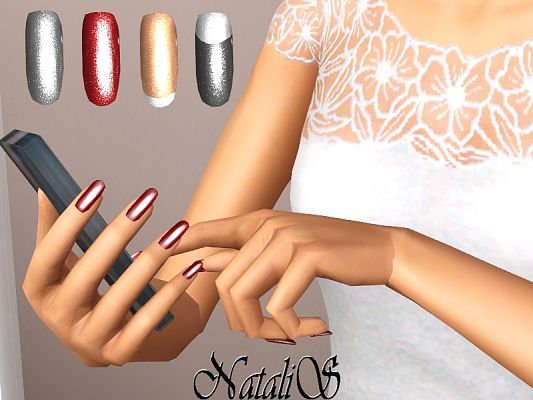 Sims 3 Nails Glitter Accessories
