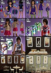 Sims 3 clothing, fashion, outfit, female, jeans, children