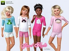 Sims 3 sleepwear, fashion, female, girls