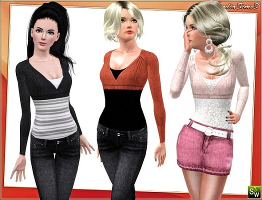 Sims 3 top, cloth, clothing, fashion, layer
