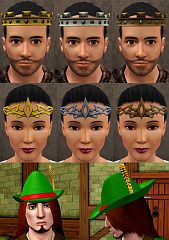 Sims 3 hat, accessories, male, female, crown