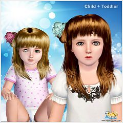 Sims 3 hair, hairstyle, genetics, female, girls