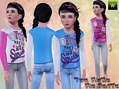Sims 3 clothing, fashion, outfit, female, jeans, girls