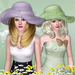 Sims 3 hat, headwear, accessories, female