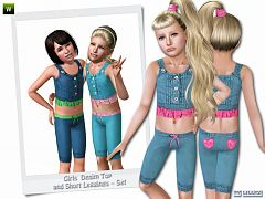Sims 3 set, cloth, outfit, top, leggings, fashion