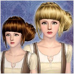 Sims 3 hair, hairstyle, genetics, female