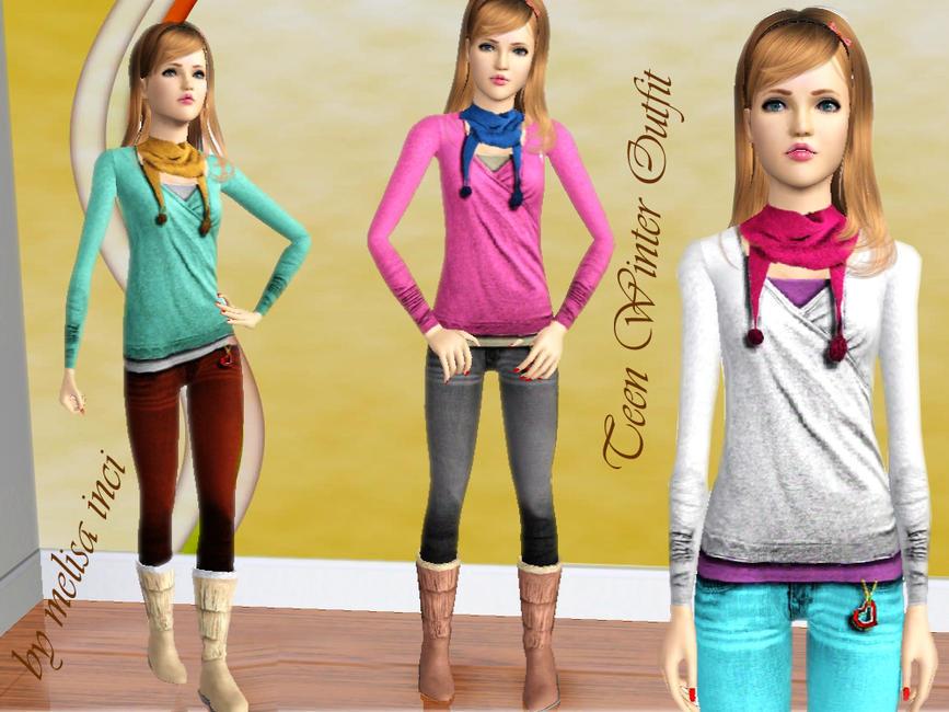 Одежда для подростков от melisa inci. Одежда для Sims 3. Просмотров: 7882 Дата