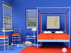 Sims 3 bed, bedroom, furniture, objects, lamp