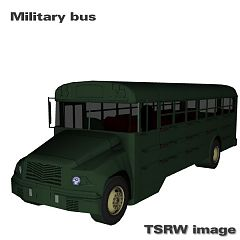 Sims 3 bus, military, car, vehicle, auto