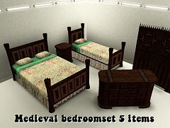 Sims 3 bedroom, furniture, objects, medieval