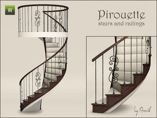 Sims 3 stair, build, arhitecture