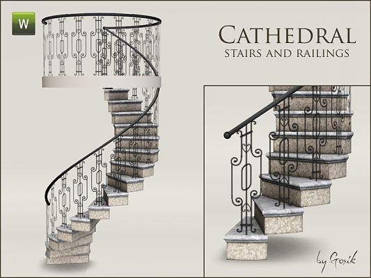 Sims 3 stairs, railings, build, objects