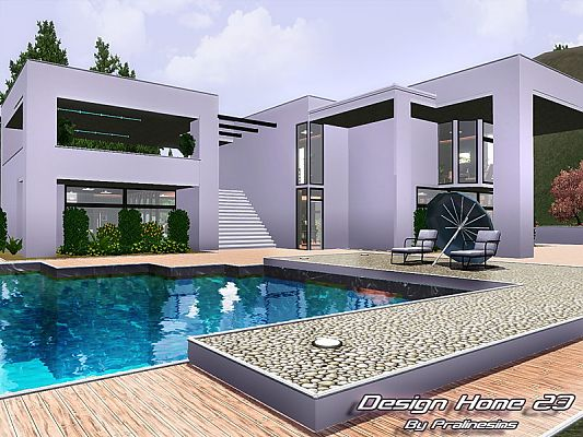 Sims 3 residential  lot  building  house. Sims 3 Updates   The Sims Resource  Design Home 23 by Pralinesims