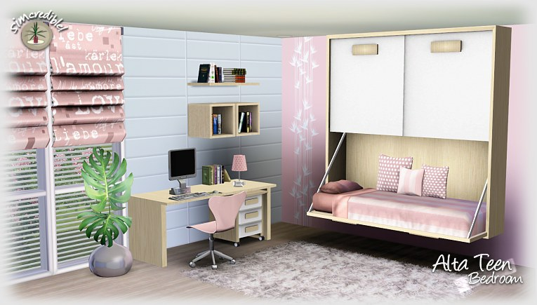 Bedroom Designs Sims 3 sims 3 updates - simcredible designs: altateen bedroom at