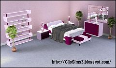 Sims 3 bedroom, furniture, bed, endtable